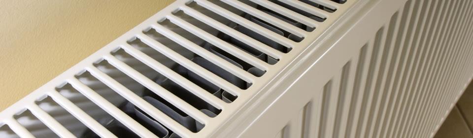 bovenaanzicht van radiator